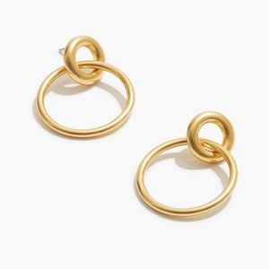 Madewell gold plated double hoop earrings